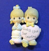 Precious Moments PIN Valentines Vintage GOD is Love Boy Girl HEART Enesco