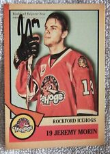 Chicago Blackhawks Jeremy Morin Signed 12/13 Rockford IceHogs Card Auto