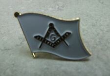 SQUARE & COMPASS BLUE LODGE LAPEL / HAT PIN BRAND NEW ENAMELED MASONIC MASON