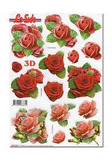 3D Bogen Motivbogen Etappenbogen mit bereits vorgestanzten Motiven Rosen (216)