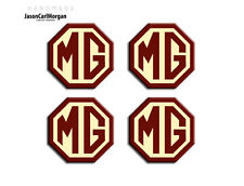 MG ZS Car Alloy Wheel Centre Caps Badges OEM Styled Burgundy & Cream 45mm