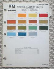 1975 DODGE TRUCK Color Chip Paint Chart Brochure: R-M, RM