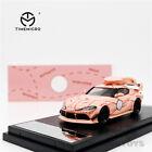 TimeMicro 1:64 Toyota Supra Pink Pig/Silver Diecast Model Car