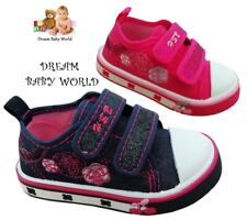 GLITTER Girls canvas shoes trainers sneakers 3.5-8 UK Leather insole KIDS GIRL.