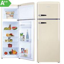 Kühl Gefrierkombination Kühlschrank Stand freistehend A++ 144cm Retro Look Beige