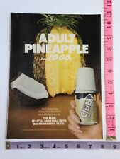 Ad - Magazine Clipping - The Club Cocktails Pina Colada Adult Pineapple 1981