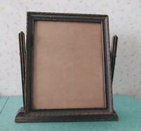 Vintage Wood Framed Vanity Shaving Stand Dresser Table Top Swivel Mirror Mission
