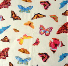 Vintage Butterflies Tossed yellow cotton fabric from Studio E By the yard