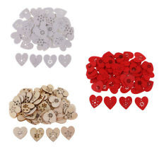 50x Heart Shape Wooden Engraving Wedding Party Christmas Ornament Gift Tags