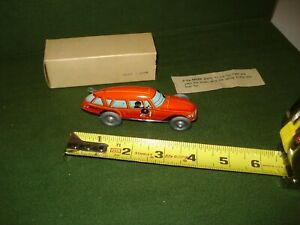 1950's TIN WIND UP RACING CAR, MADE IN JAPAN, WITH BOX AND INSTRUCTIONS.NICE
