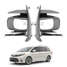 For Toyota Sienna 2018 2019 2020 Fog Light Lamp Cover Bezel Chrome Left+ Right