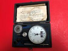 Vintage Meylan Tachometer Model 4800 With Black Vinyl Case