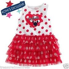 Disney Minnie Mouse Polka Dot Dress With Tiered Tutu Skirt ~ Size 24 Months ~NWT