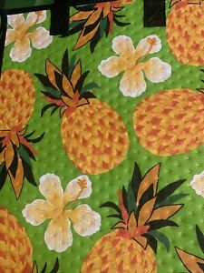 13X12X10  Large Insulated Bag For ,Gifts Grocery, Travel.  Green Pineapple's.