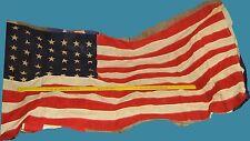 "WWII Era 48 Star United States 32"" x 60"" American Flag USA, Error in Stitching"