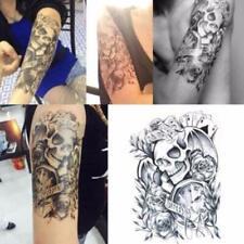 Flash Einmal Temporary Klebe Tattoo Uhr Rose Karten Schwarz Körper Body Geschenk