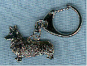 Welsh Pembroke Corgi Nickel Silver Key Ring Key Chain Jewelry Last One!
