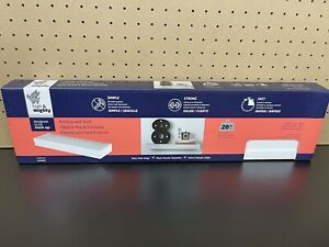 High & Mighty 515607 White Tool Floating Shelf 24 W x 2 H x 6 D in.  NEW