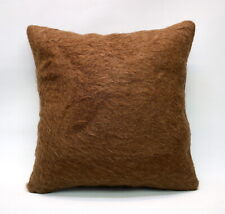 "Kilim Square Pillow, 16""x16"", Tulu Pillow, Throw Pillow, Decorative Pillow"