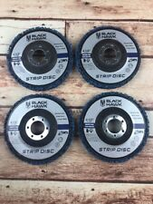 "4 Pack 4.5""x7/8"" Black Hawk Easy Strip 4-1/2"" Discs Removes Paint Rust & Cleans"