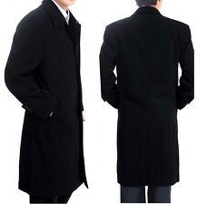 Mens Black Winter Designer Long Trench Coat Jacket Overcoat Parka M-XXXL MTS153