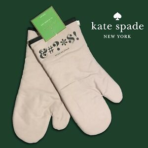 SET OF 2 - New Kate Spade New York ALL IN GOOD TASTE Excuse My French Oven Mitts