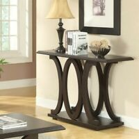 Coaster C Shaped Console Table in Cappuccino