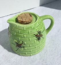 Tropic Bee Natural Ceramic Honey Bee Syrup Creamer Japan With Sticker Cork