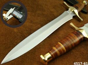 "SUPERB HANDMADE 15"" STAINLESS STEEL DAGGER HUNTING KNIFE W/SHEATH NEW (4517-61"