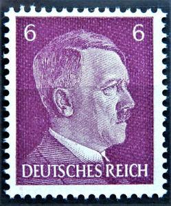 WW2 GENUINE 3rd REICH ERA GERMAN STAMP ADOLF HITLER REICHSKANZLER 6 rf MNH