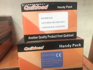 DOUBLE FENCING PACK FOR PASLODE IM350 ONE BOX EACH 51 RING GALV/ 90MM GALV