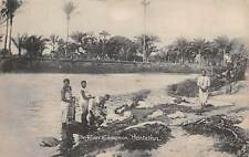 LAGOS, NIGERIA, AFRICA, WOMEN WASHING CLOTHES AT RIVER, TUCK PUB, c 1904-14