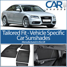 Audi A4 4dr 08-15 (B8) UV CAR SHADES WINDOW SUN BLINDS PRIVACY GLASS TINT BLACK