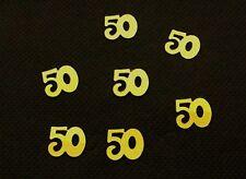 Confettis de table nombre 50 or. Décoration de mariage