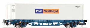 """Piko 58740 Spur H0 Containertragwagen Bauart Lgs579 """"P&O Nedlloyd"""" der MÁV, EpVI"""