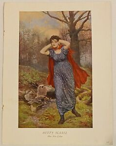 Vintage 1930s Art Book Print, Hetty Sorrel by John Collier