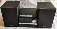 PIONEER X-EM12 MINI Hi-Fi SYSTEM, 2X15W SPEAKERS.(BLACK) CD/RADIO/USB * TESTED *