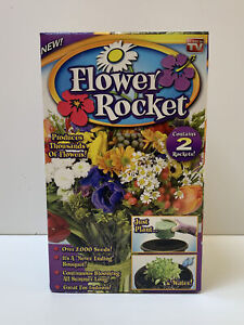 Flower Rocket Seed Roll Out Flowers As Seen On TV 2 Rockets 2000 Seeds Brand New