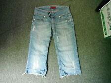 "Levi's Billie May Cut Off Shorts W 28 L 18"" Faded Medium Blue Ladies Shorts"