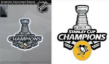2017 STANLEY CUP FINAL CHAMPIONS PATCH NHL PITTSBURGH PENGUINS W/ CHAMP STICKER
