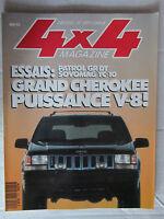 4X4 MAGAZINE N° 140 /PATROL GR DT/SOVOMAG TC-10/GRAND CHEROKEE V8