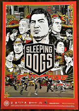 Sleeping Dogs PS3 XBox 360 43 x 60cm Original Video Game Promo Poster #1