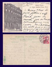 UK LONDON ATHOLE HOUSE BEDFORD PLACE 1906 TO MRS ARMIT, DUNEDIN, NEW ZEALAND