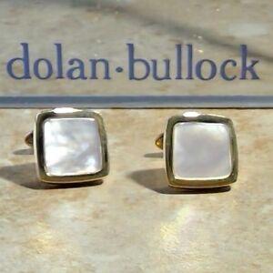 Dolan BULLOCK  DRESS BLACK 14K yellow Gold  alabaster  CUFFLINKS $1300