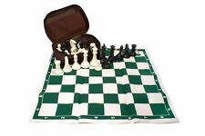 Professional Tournament Chess. Brown Case. Weight: 2.64 Lb. Black - White