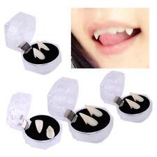 Pair Vampire Dracula Fangs Cap Teeth Fancy Dress Halloween Horror Adhesive 4Size
