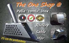 "Pelle Extracteur Tamis Gamate mer sabl détection métaux inox 316L ""Milieu salin"""