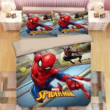 Spiderman Single/Double/Queen/King Size Bed Quilt Doona Cover Set Pillowcase