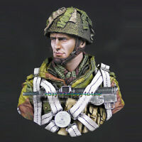 1/10 Unassembled Airborne Troops Soldier Bust Model Unpainted Garage Kits Statue