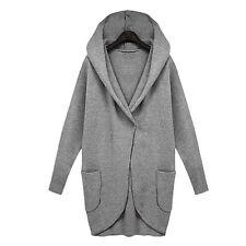 Fashion Women's Slim Hoodies Long Jacket Windbreaker Parka Outwear Cardigan Coat